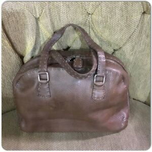 1ad4ddfb8c Image is loading Fendi-Selleria-Pebbed-Leather-Brown-Bag-Handbag
