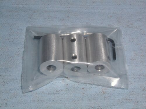 "By ESG 6061 Aluminum LOT OF 3 1//4/"" to 8mm  RIGID SHAFT COUPLERS or COUPLINGS"