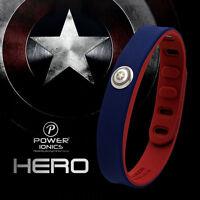 Power Ionics Hero Series Idea Band 3000 Ions Sports Bracelet Wristband Titanium