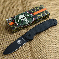 ESEE Avispa Black FRN Handle Black AUS-8 Framelock Knife BRK1301B