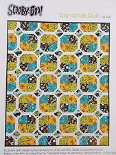 "Scooby Doo Diamonds Quilt Top Kit 60"" x 72"" Camelot Fabrics Cotton"