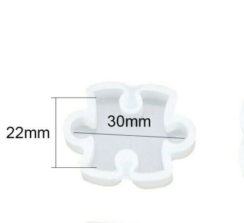 Jewelry #11 Clay Candy Resin Puzzle Piece Silicone Mold Diy Chocolate