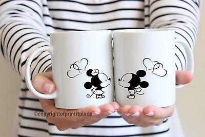 Disney Micky Mouse E Mini Lui E Lei Tè/tazza Caffè Coaster 10/15oz/magic-