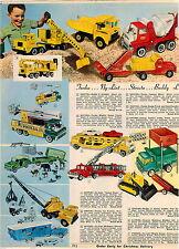 1968 ADVERT Nylint Buddy L Structo Toy Truck Tonka Mobile Home Dump Jeep Gradall