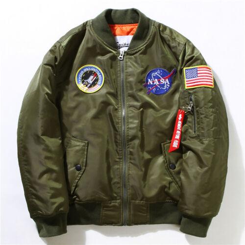 Australia Only Best Zip Winter Mens MA-1 Pilot Bomber Jacket Flight Tiger NASA