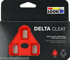 Genuine New 2017 LOOK DELTA Pedal Cleats 9° Float- Fit ALL DELTA Pedals: RED