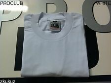 6 PROCLUB Heavy Weight T-shirt White Plain Pro Club Blank 2xlt Tall 6pc