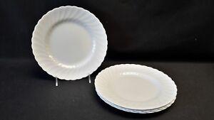 Royal-Tuscan-England-All-White-Swirl-Edge-Whitecliffe-Set-of-4-Salad-Plates