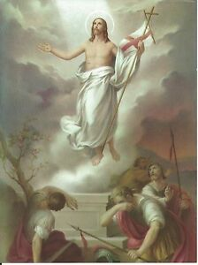 Catholic-Print-Picture-RESURRECTION-of-Jesus-Easter-6x8-034-from-Italy