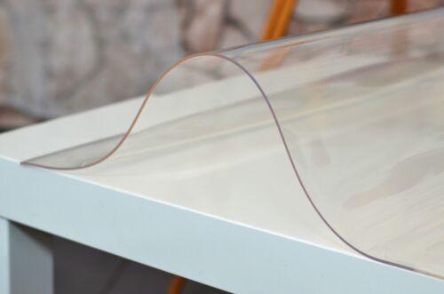 VanillaflexDoux Film PVC Table DIAPOSITIVE 2 mm Table PROTECTION TRANSPARENT CLAIR 70 cm