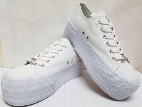 """1.75/"""" HIGH CANVAS LACE UP WEDDING BRIDAL SNEAKERS TENNIS SHOES WOMEN/'S  APP"""