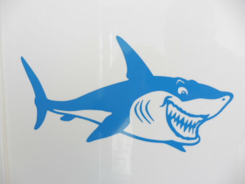LARGE Shark Fish animals vinyl stickers//car//van//bumper//window//decal 5238 Blue