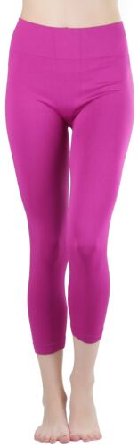 "FashionCatch Women/'s 27/"" Seamless Capri Leggings Thick Waistband"