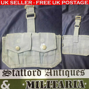 BRITISH-303-ENFIELD-TWO-POCKET-WEBBING-POUCH-Collectables-Militaria