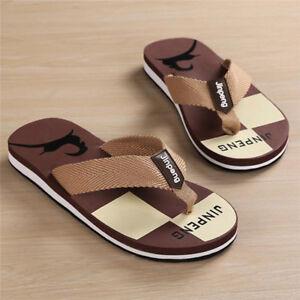 e03d7025816 Summer Men s Flat Beach Flip Flops Slippers Shoes Casual Indoor ...