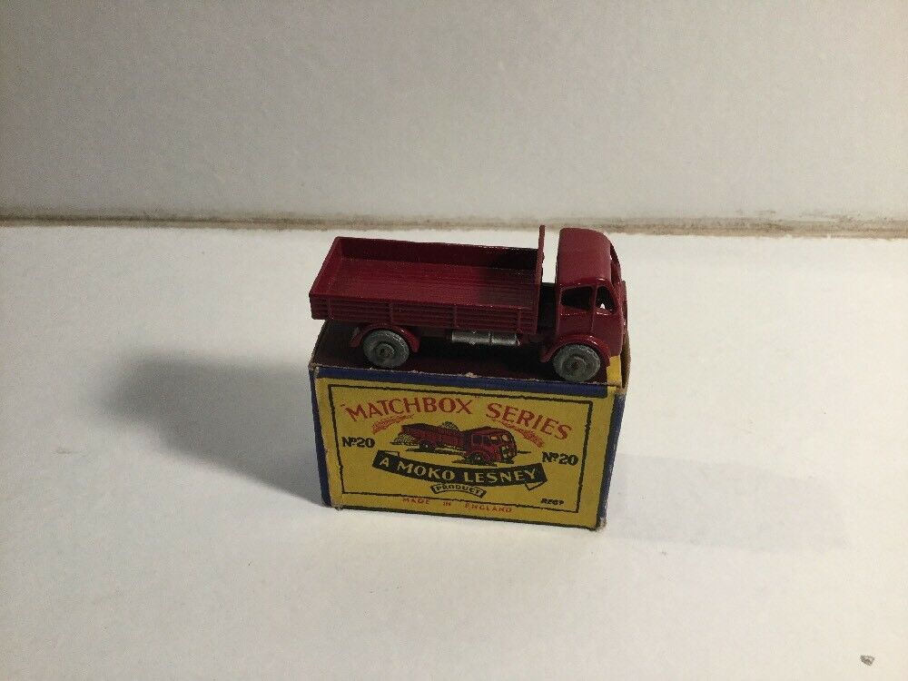 Vintage Matchbox Lesney No 20 ERF Lorry Within Its Original Box