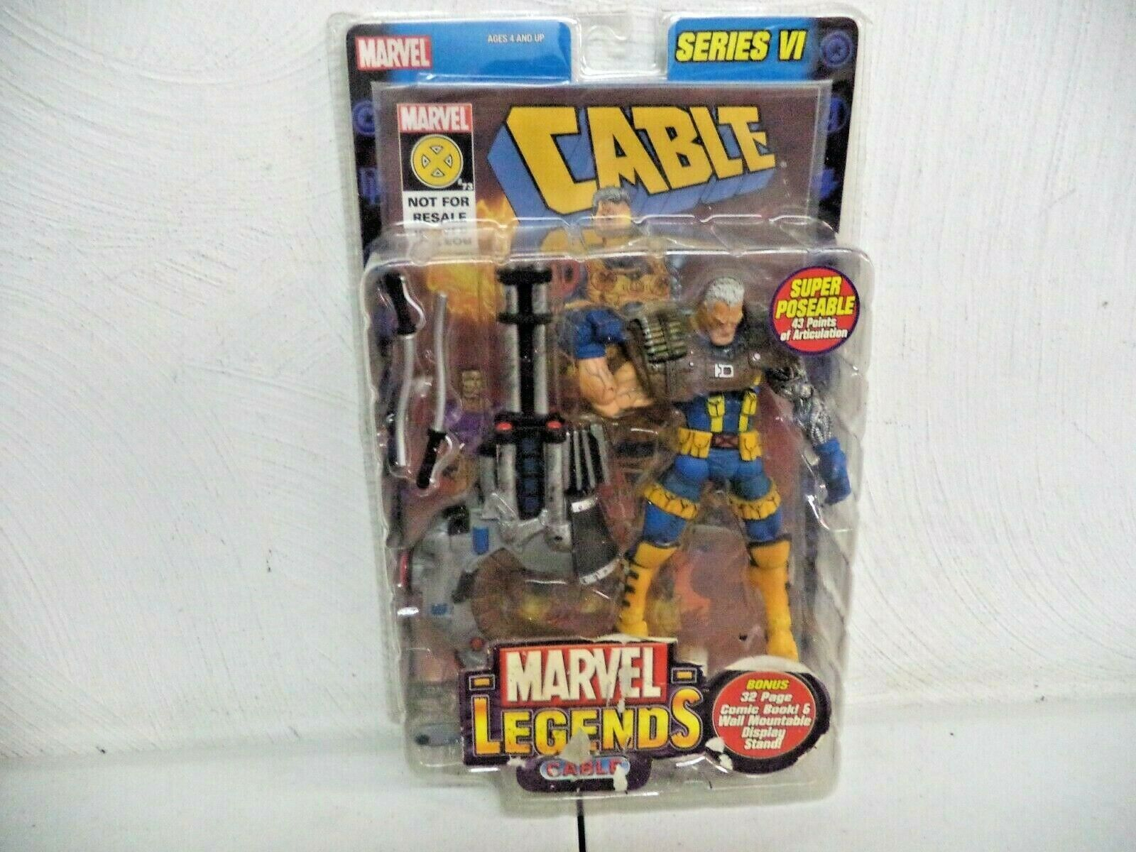2004 - TOY BIZ - MARVEL LEGENDS - SERIES VI - CABLE FIGURE - BRAND NEW