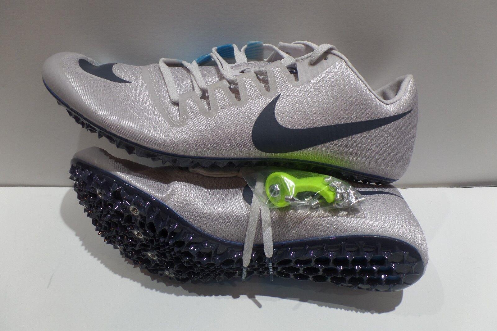 Nike Zoom JA Fly 3 Track Spikes Vast Grey bluee Black 865633 004 Men Sz 13