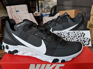 Nike React Element 55 Black White Running Men s Training BQ6166-003 ... bd452cc72