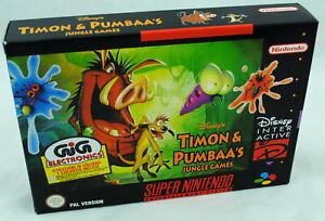 Jeu-TIMON-amp-PUMBAA-039-S-sur-Super-Nintendo-SNES-Neuf-carton-d-039-usine-version-PAL