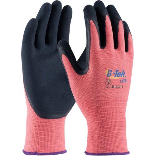 G-Tek Lite Latex Coated Polyester Work Gloves Pink