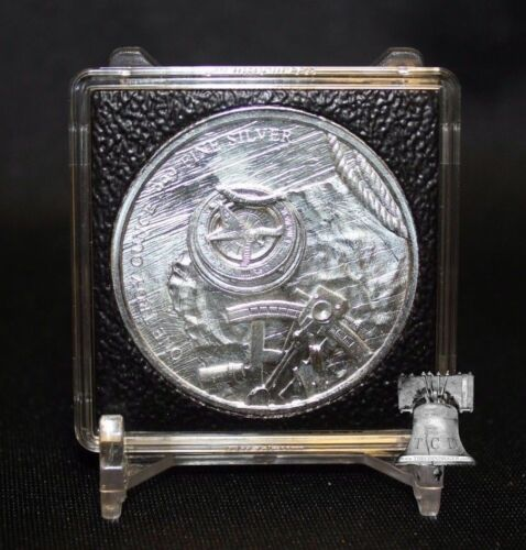 Somalian Elephant 1oz Silver 2x2 Coin Holder 39mm Quadrum INTERCEPT Case Stand