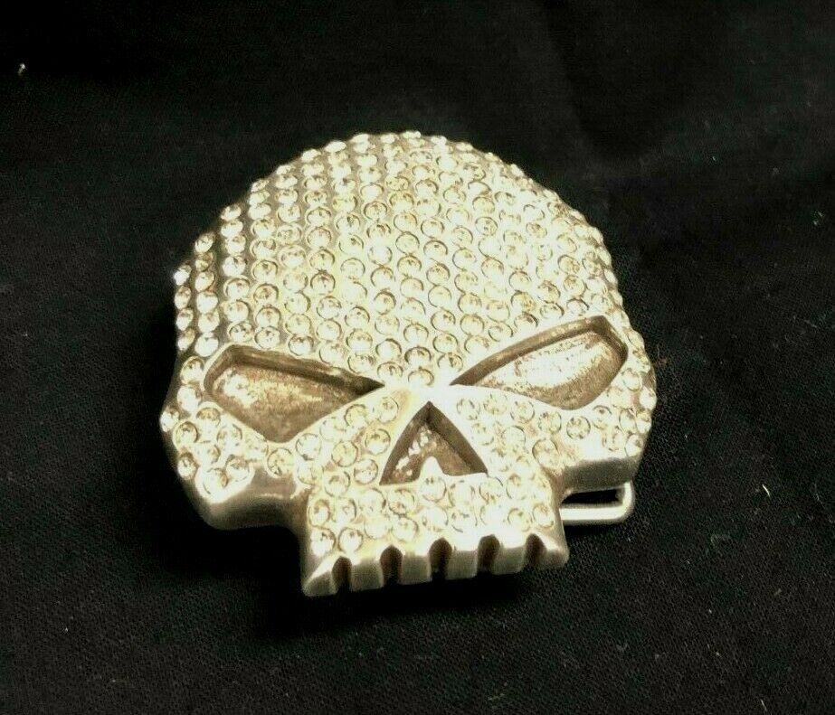 Harley Davidson Women's Crystal Skull Belt Buckle