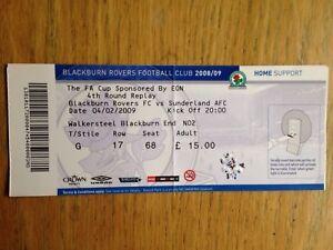 Blackburn Rovers v Sunderland 200809 FA Cup match ticket - Pinner, Middlesex, United Kingdom - Blackburn Rovers v Sunderland 200809 FA Cup match ticket - Pinner, Middlesex, United Kingdom