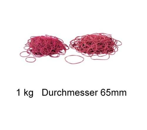 Größen 40 50 65 85 100 mm 1 kg Gummiringe Gummiband Gummibänder rot div