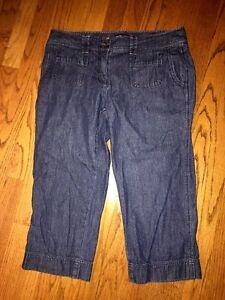NEW-YORK-amp-COMPANY-WOMENS-Crop-Pants-Clam-Digger-DENIM-BLUE-Skinny-JEANS-Sz-10