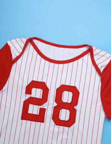 Mens Baseball Jumpsuit Short Sleeve  Romper Button Crotch Shirt Leotard Bodysuit