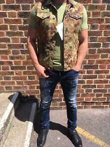 SALE-40-AUTHENTIC-DSQUARED-2-Military-Weste-Groesse-46-48-38-UK