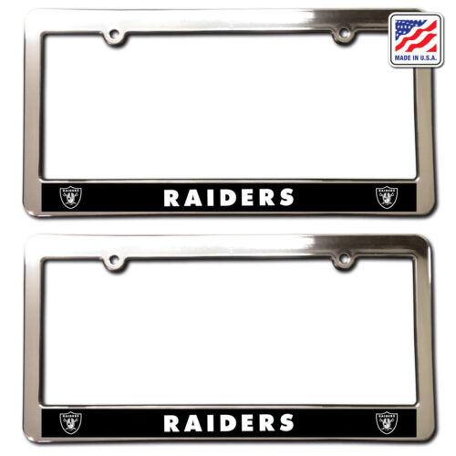 2 OAKLAND RAIDERS  Chrome Faced License Plate Frames car accessories football