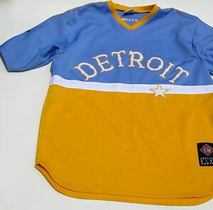 san francisco 58278 6be4d Details about Detroit Stars Baseball Mens XL Jersey Negro League Michigan  Replica Yellow Blue