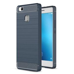 Huawei-P9-Lite-Carcasa-TPU-Fibra-de-Carbono-optica-Cepillado-Diseno