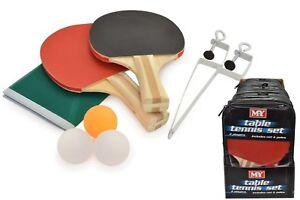 Tennis de Table Ensemble Complet 2 Paddle Chauves-Souris 3 Ping Pong Balls Net Family Game  </span>