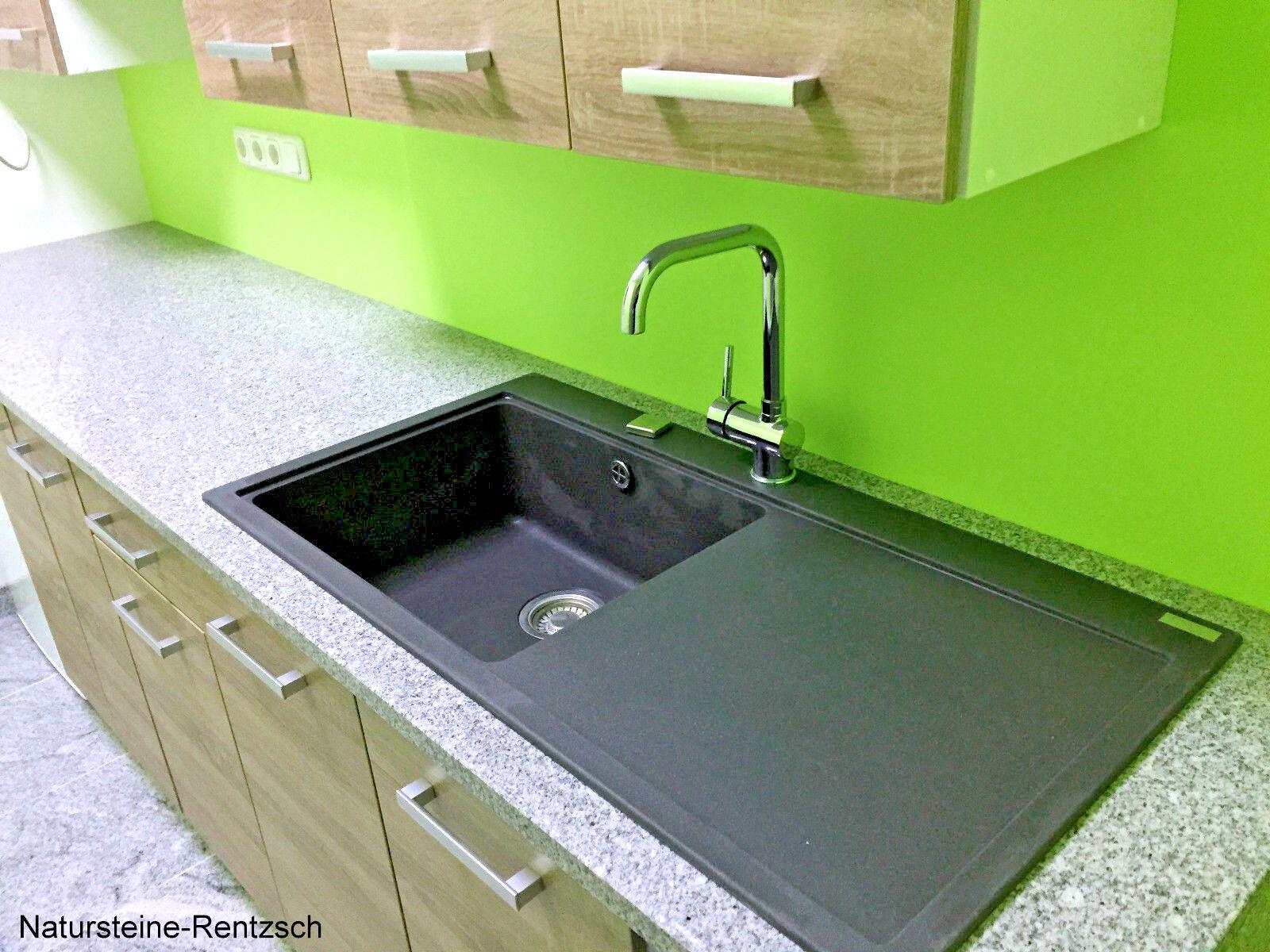 Küchenarbeitplatte Granitarbeitsplatte Steinplatte für Küche Outdoor-Küche grau  | Ausgezeichnete Qualität
