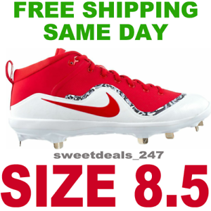 537de3a5a NIKE FORCE AIR TROUT 4 PRO METAL BASEBALL CLEATS CLEATS CLEATS MEN S  UNIVERSITY RED WHITE 8.5