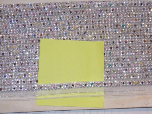 multicolour Diamonte crystal cake decoration dance ribbon mesh rhinestone