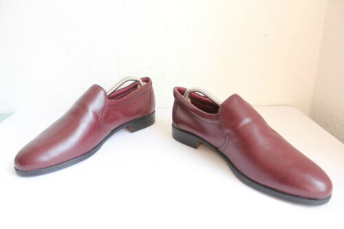 vintage pelle Scarpa classica uomo elegante 11 5 in Red 45 vera Pantofola Wine Eu da uk EwqFfxn84