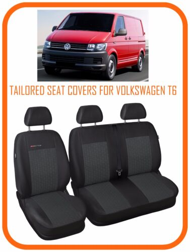 Completamente adaptados Van Fundas De Asiento Para VW Volkswagen Transporter T6 2+1