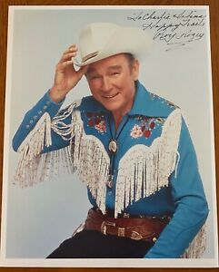 ROY ROGERS 8x10 Color Signed Photo #7119