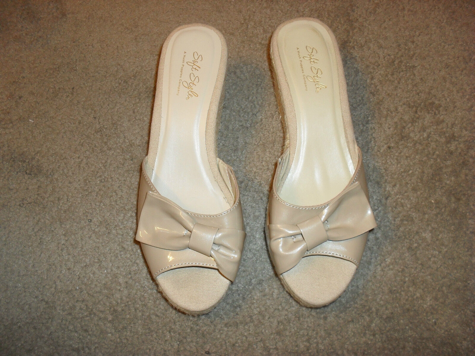 Very Gently Used Women's Soft 8.5M Styles Wedge Sandals, Size 8.5M Soft bbeac6