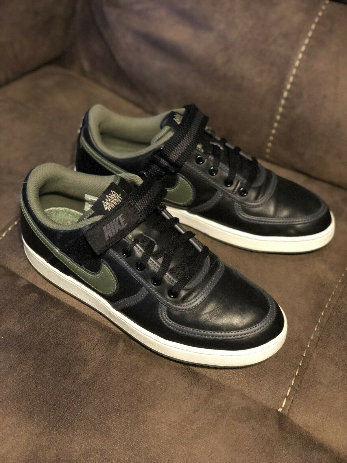 2007 Nike Vandal Low Independent Pleasure Club New Jersey Black Five Size 11.5