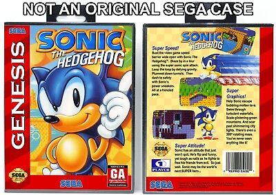 Sonic The Hedgehog Sega Genesis Custom Case No Game Ebay