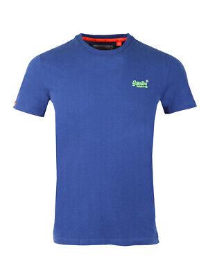 XXL Superdry Orange Label M10007TQ Vintage Embroidery T-Shirt in Flash Blue S