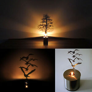 Shadow Projection Lamp Romantic Atmosphere Night Light Candle Home ...