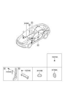 NEW HYUNDAI OEM 2010-2011 SONATA TRUNK WIRING ASSEMBLY - FLOOR 915003Q074 |  eBayeBay