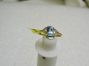 10-Quilates-Oro-Amarillo-Topacio-Azul-y-Diamante-Anillo-Talla-6-3-4-Ng23-z