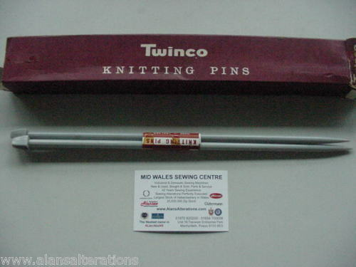 "NUOVO 12 /""British TWINCO SIZE 1 knitting Needles"